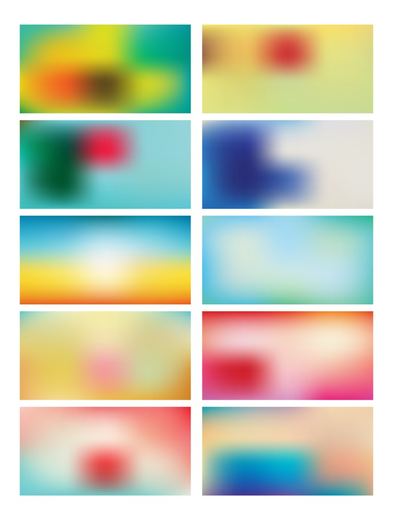 Abstract Multicolored Blurred Background Set 82