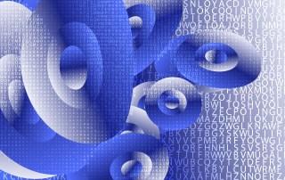 Blue and White Random Alphabet background