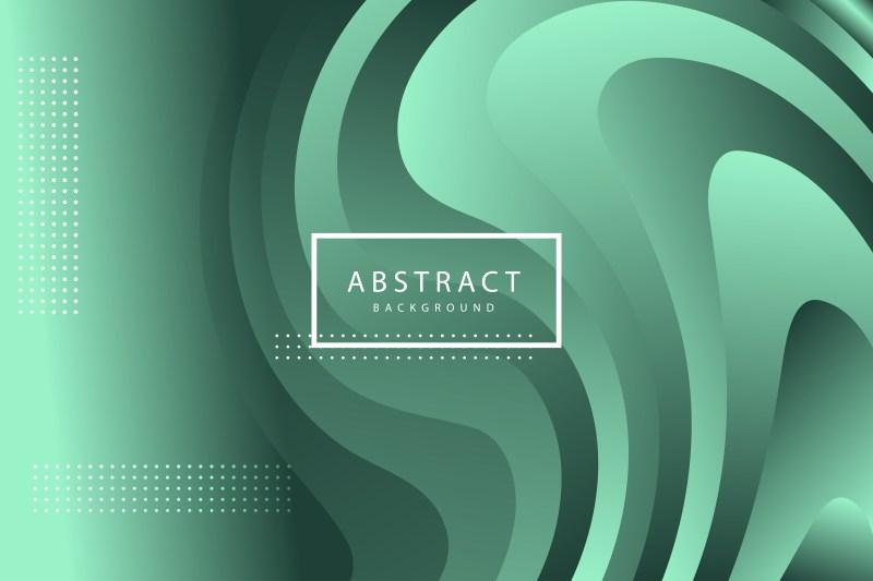 Abstract Liquid Green Gradient Background