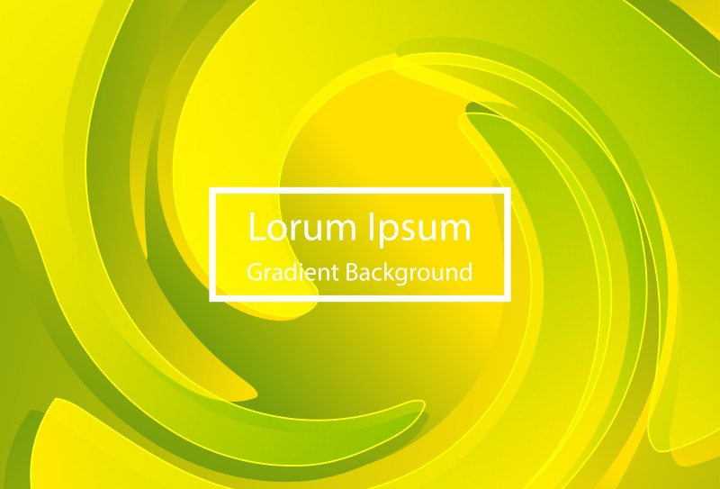 Abstract Liquid Green and Yellow Color Poster Background
