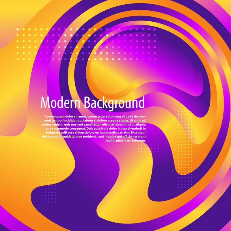 Abstract Liquid Purple and Orange Color Background