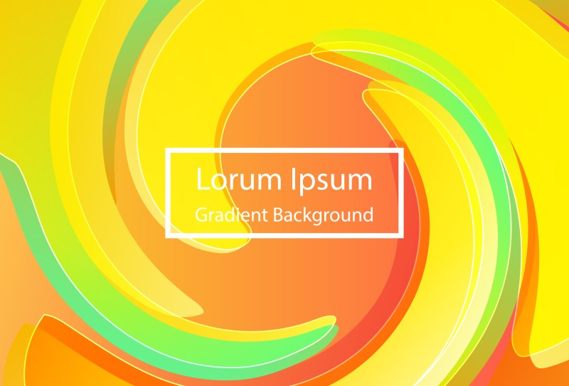 Abstract Orange Yellow and Green Fluid Color Poster Background