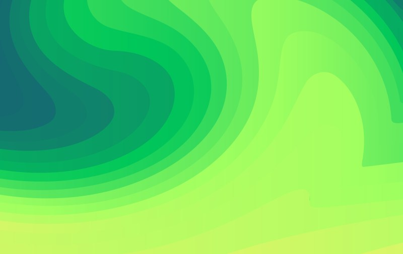 Abstract Green Fluid Color Gradient Geometric Shapes