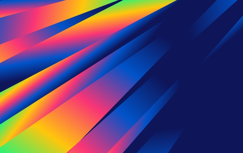 Abstract Colorful Fluid Gradient Shapes Futuristic Design Background