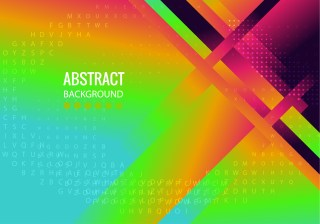 Abstract Modern Colorful Fluid Gradient Geometric Background Design Template