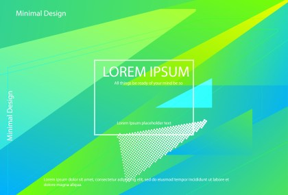 Blue and Green Fluid Gradient Geometric Abstract Background Vector Illustration