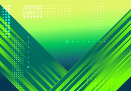Abstract Blue and Green Fluid Gradient Shapes Futuristic Design Background Vector