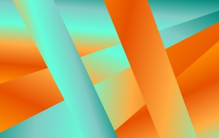 Blue and Orange Fluid Liquid Color Abstract Modern Geometric Background Illustration