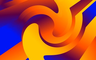Abstract Blue and Orange Liquid Geometric Poster Background