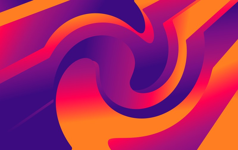 Blue And Orange Fluid Color Abstract Geometric Background