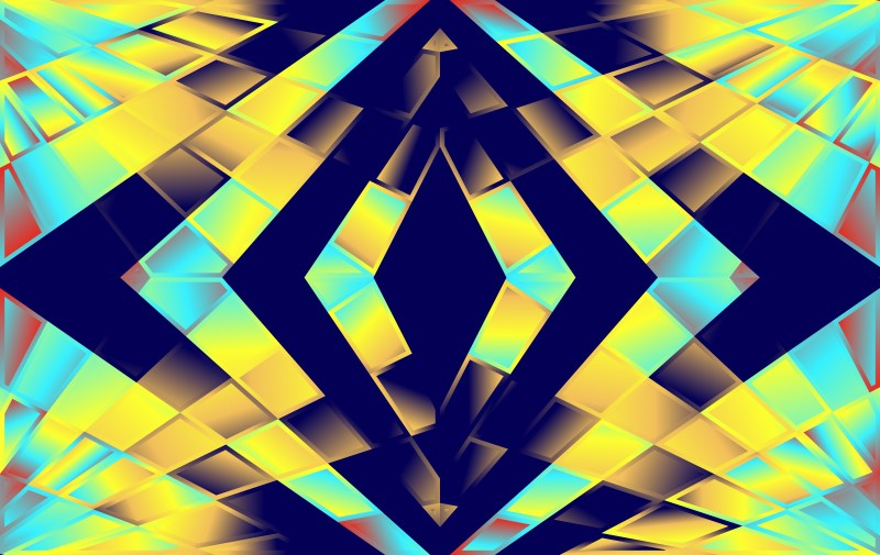 Abstract Modern Blue and Yellow Fluid Gradient Geometric Background Design Template
