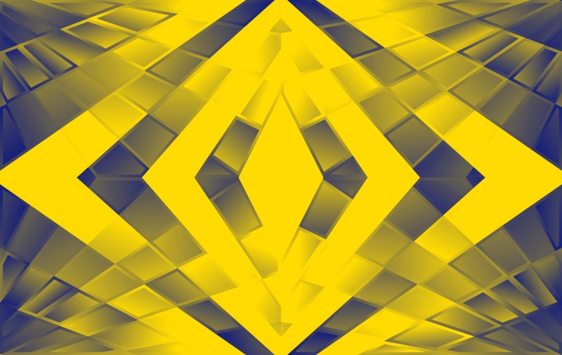 Abstract Blue and Yellow Fluid Color Geometric Background Vector