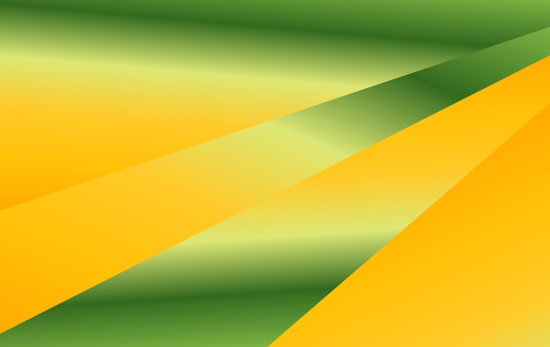 Abstract Orange and Green Liquid Geometric Poster Background Design
