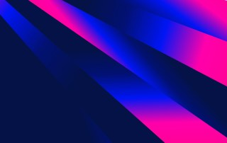 Abstract Pink and Blue Fluid Gradient Shapes Composition Futuristic Design Background