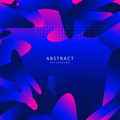 Abstract Pink and Blue Fluid Liquid Color Shapes Composition Background Graphic