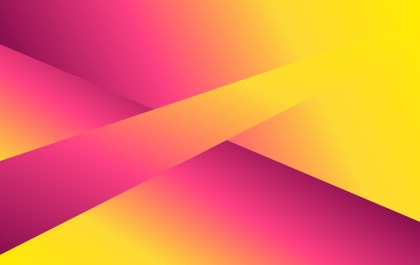 Pink and Yellow Fluid Gradient Geometric Abstract Background