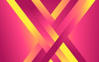 Abstract Pink and Yellow Fluid Gradient Geometric Background