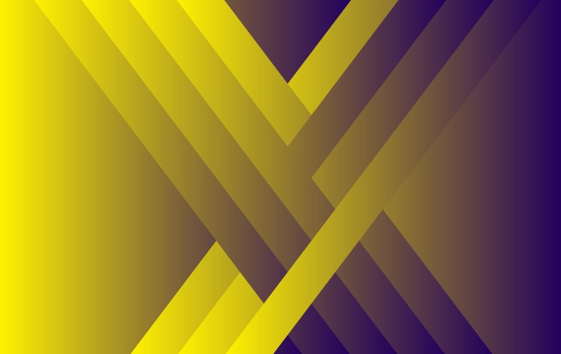 Abstract Purple and Yellow Fluid Gradient Geometric Background Vector Art