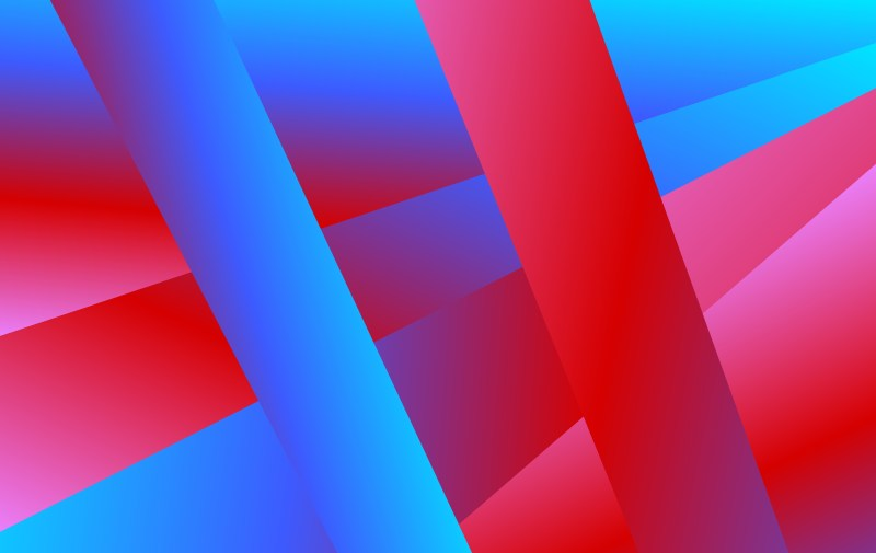 Abstract Red and Blue Fluid Color Gradient Shapes Composition Background