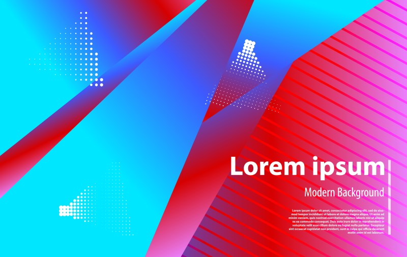 Red and Blue Fluid Gradient Geometric Abstract Background Vector Illustration