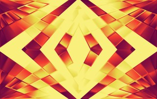 Abstract Modern Red and Orange Fluid Gradient Geometric Background