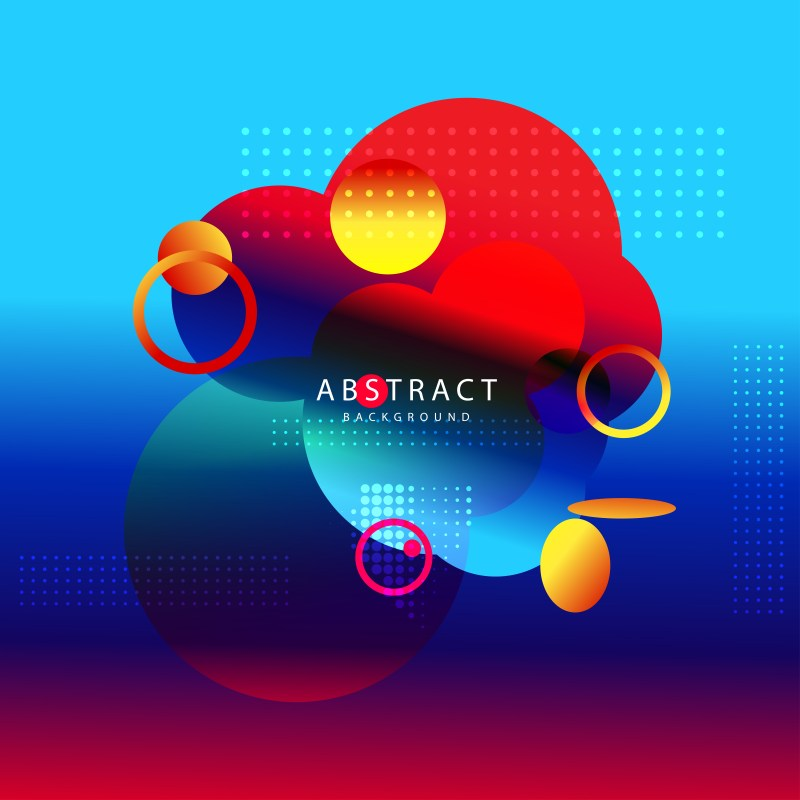 Abstract Modern Black Red and Blue Fluid Gradient Geometric Background Design Template