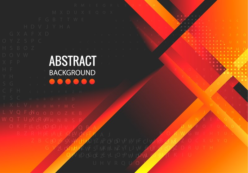 Abstract Black Red and Orange Liquid Geometric Poster Background Design
