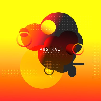 Abstract Black Red and Yellow Fluid Color Gradient Geometric Shapes Composition Background