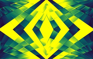 Abstract Blue Green and Yellow Fluid Color Geometric Background