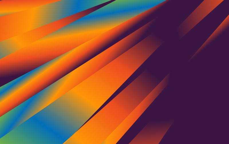 Abstract Blue Orange and Purple Liquid Color Fluid Gradient Geometric Background