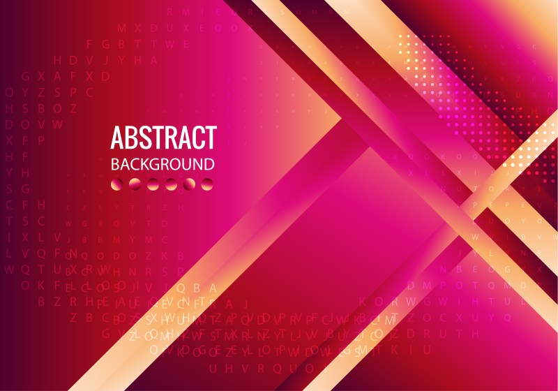 Abstract Pink Red and Brown Fluid Color Gradient Shapes Composition Background