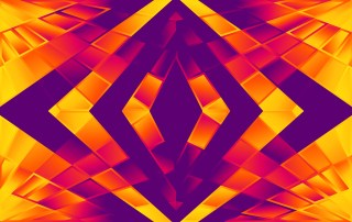 Abstract Purple Red and Orange Fluid Liquid Color Shapes Composition Background Graphic