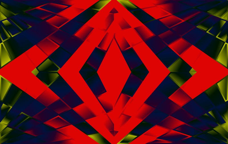 Abstract Red Green and Blue Gradient Fluid Shapes Futuristic Geometric Background Design