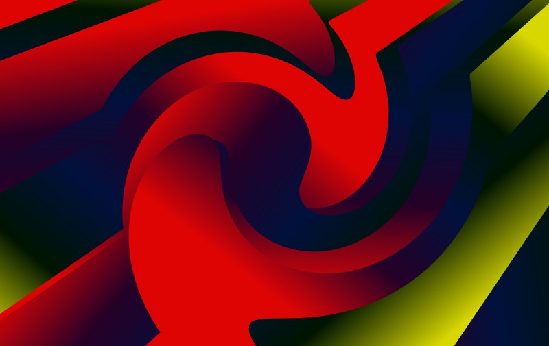 Abstract Red Green and Blue Liquid Color Geometric Background Image