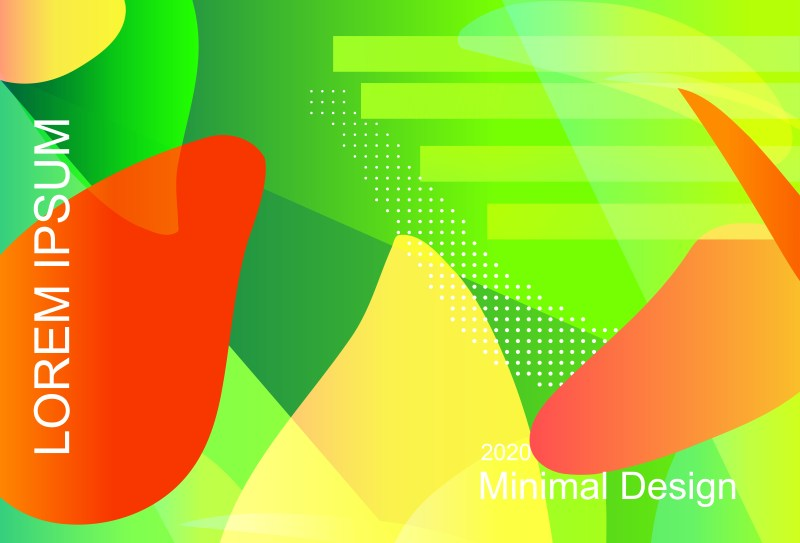 Abstract Red Yellow and Green Liquid Color Fluid Gradient Geometric Background