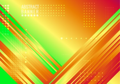 Abstract Red Yellow and Green Liquid Geometric Poster Background