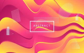 Abstract Pink and Yellow Wavy Fluid Gradient Color Background