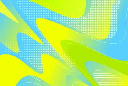 Abstract Blue Green and Yellow Liquid Color Wavy Background