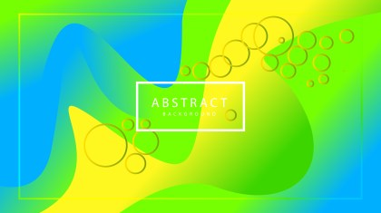 Abstract Blue Green and Yellow Liquid Wavy Geometric Background