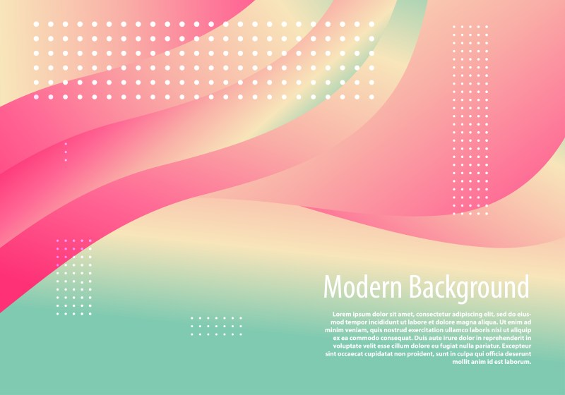 Abstract Modern Pink Blue and Brown Liquid Color Wavy Background Illustrator