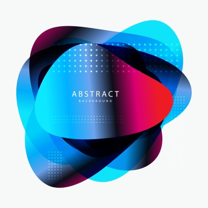 Abstract Black Pink and Blue Fluid Gradient Geometric Shape Vector