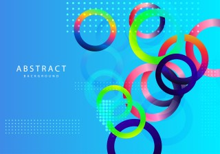 Abstract Colorful Fluid Color Circles Background