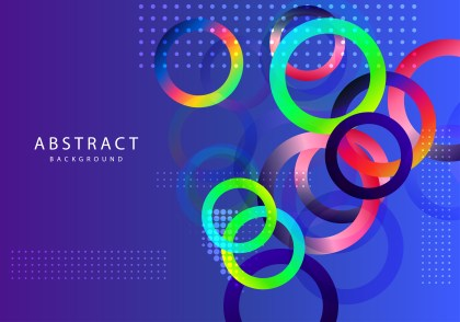 Abstract Colorful Fluid Gradient Circles Background