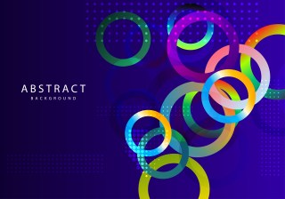 Abstract Colorful Liquid Circles Background