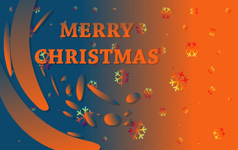 Abstract Blue and Orange Christmas Background