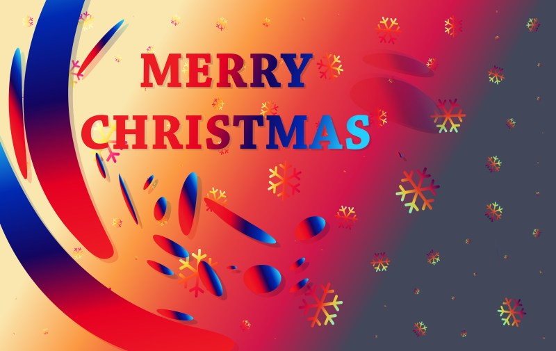 Abstract Black Red and Blue Christmas Background