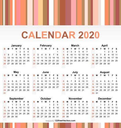 2020 Calendar Pdf Download