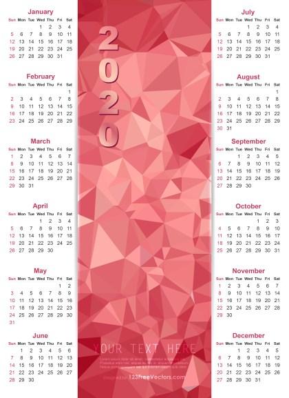 Calendar 2020 Vector Design