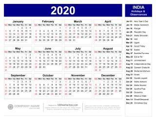 Vector De Calendario 2020.210 2020 Calendar Vectors Download Free Vector Art