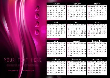 Calendar 2020 Template Design